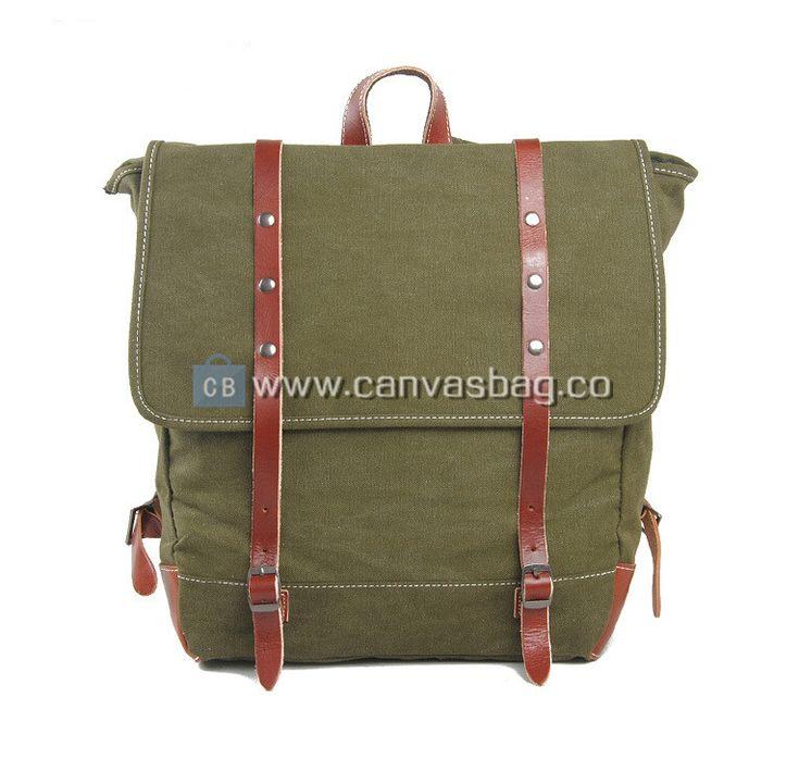 School Rucksack | Genuine Leather Canvas Bag Wholesale