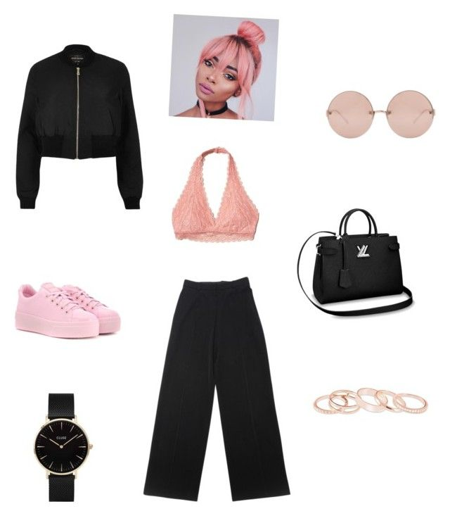 """Untitled #77"" by irinaandreea-94 on Polyvore featuring Hollister Co., River Island, Yves Saint Laurent, Kenzo, Linda Farrow, Kendra Scott and CLUSE"