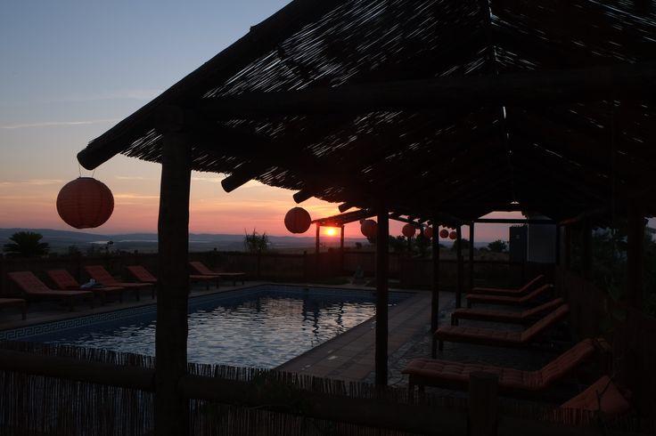 Pool area at #sunset #Suryalila Retreat Centre