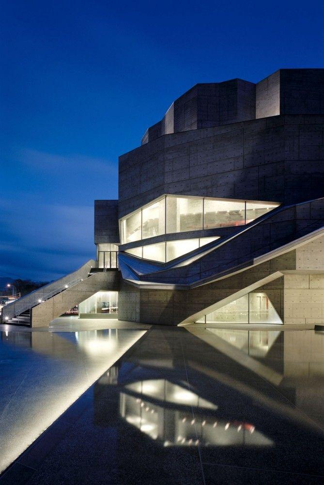 Ofunato Civic Center and Library / Chiaki Arai Urban and Architecture Design: Ofunato Civic, Modern Building, Arai Urban, Chiaki Arai, Chiakiarai, Modern Home, Design Home, Civic Center, Architecture Design