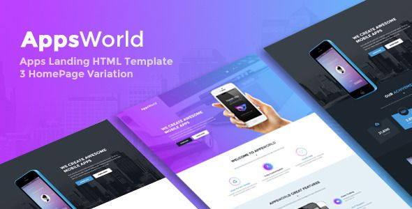 AppsWorld - App Landing Page HTML5 Template (Marketing) - http://buyonlinewebsite.com/appsworld-app-landing-page-html5-template-marketing/