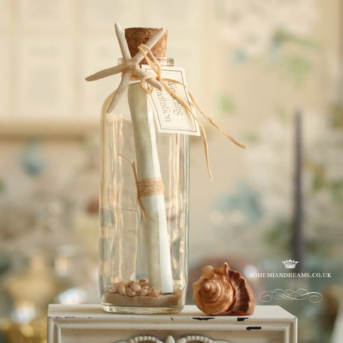 Message in a Bottle wedding invitation  www.bohemiandreams.co.uk