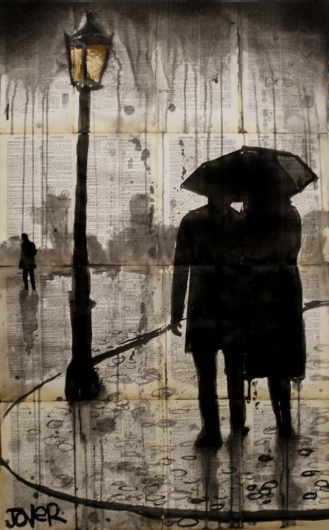Saatchi Online Artist: Loui Jover; Pen and Ink, 2013, Drawing raindrops