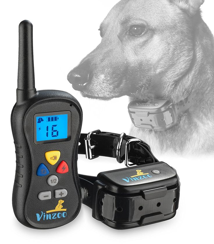 Dog Training Collar By VINZOO - Waterproof Shock Collar For Dogs With Remote- Rechargeable Bark Collar With Beep, Vibration, Shock, 16 Different Levels - Pet Training Collar For Small & Large Dogs