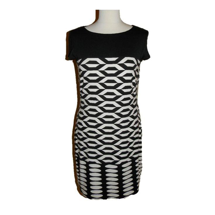 Debenhams dress black&white size UK12