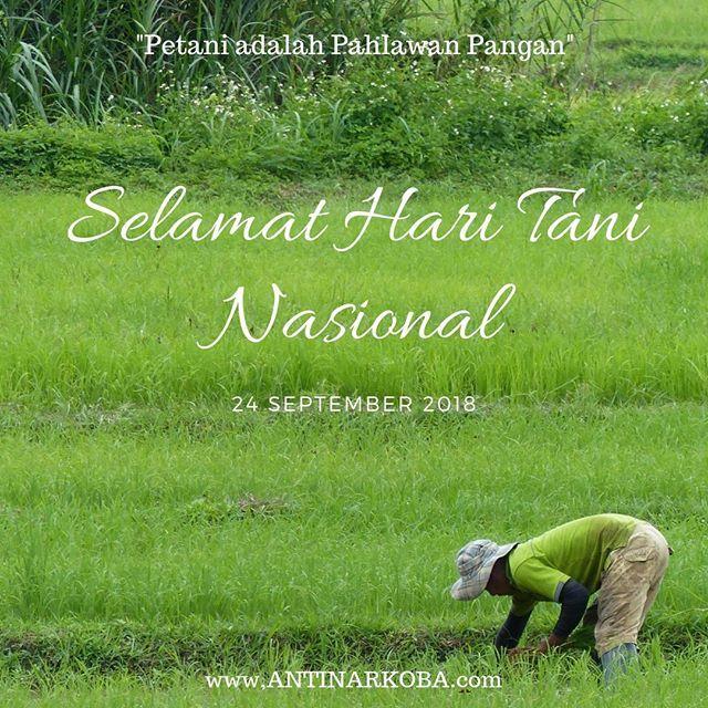 Selamat Hari Tani Nasional 24september 2018 Petani Adalah
