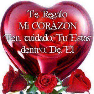Imagen De Amor Con Una Frase Muy Bonita En Un Globo De Color Rojo En