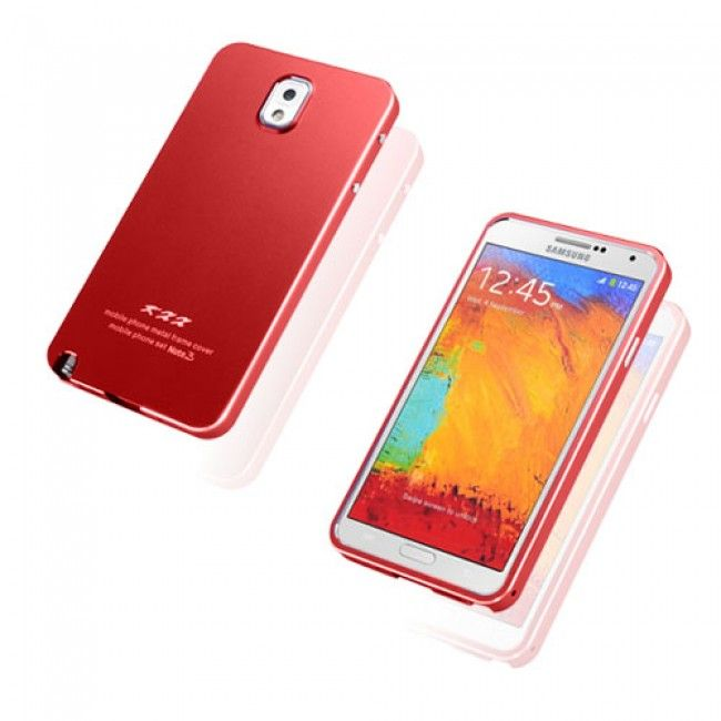 KXX (Punainen) Samsung Galaxy Note 3 Metalli Suojakuori - http://lux-case.fi/catalog/product/view/id/23789/s/kxx-red-samsung-galaxy-note-3-metal-case/