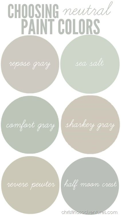 Choosing neutral paint colors for the new house - Christinas Adventures