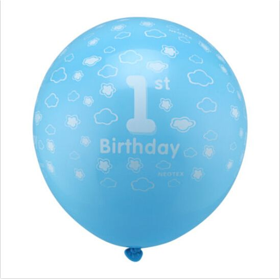 10 pcs Fille Imprimé Nouveau Bébé Décor Ballons Nombre 1 Première Fête…