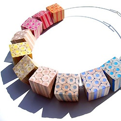 Jewelry made of colored pencils