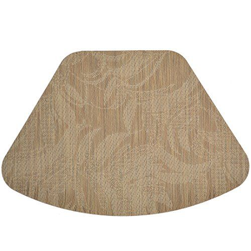 Set of 2 Tan Tonal Leaf Wipe Clean WedgeShaped Placemats for Round Tables ** You can get additional details at the image link.Note:It is affiliate link to Amazon.