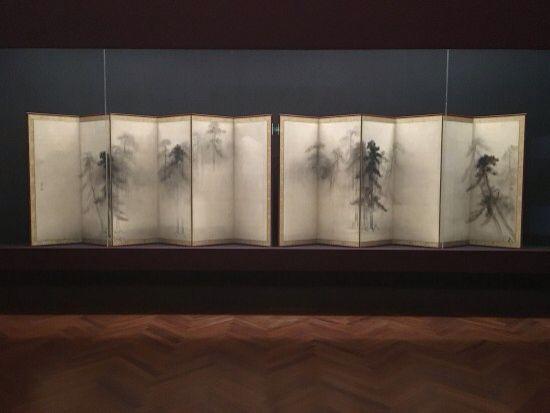 Hasegawa Tohaku Pine Trees Pair Of Japanese Folding