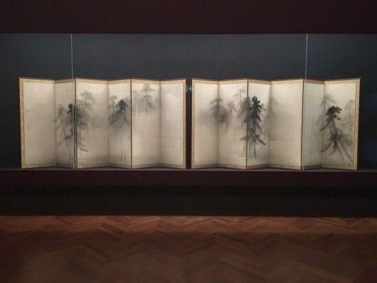 Hasegawa Tohaku. Pine Trees. Pair of Japanese folding screens.