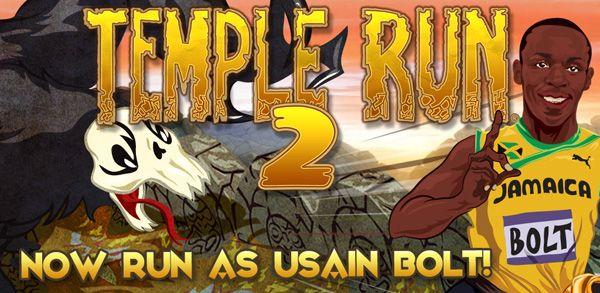 In Temple Run 2, voor de iPhone en Android toestellen, kan j enu als usain bolt lopen. Bolt moet in het spelletje een parcours aflopen met zombie apen op zijn hielen.
