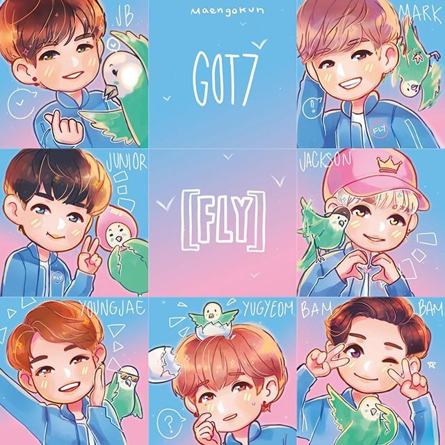 Fly with Got7 !!! I have plans to sell these as buttons at #FLYINLA (#flyinla1) Still working things out though ^^ #FLYINUSA