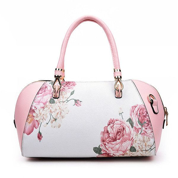 Women Elegant Flower Shell Bags Ladies Folk-Custom Shoulder Bags Trible Crossbod - US$34.98