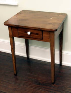 Texas Small Cedar Table With Ash Legs. Washstand. From The Heritage  Societyu0027s Permanent Collection