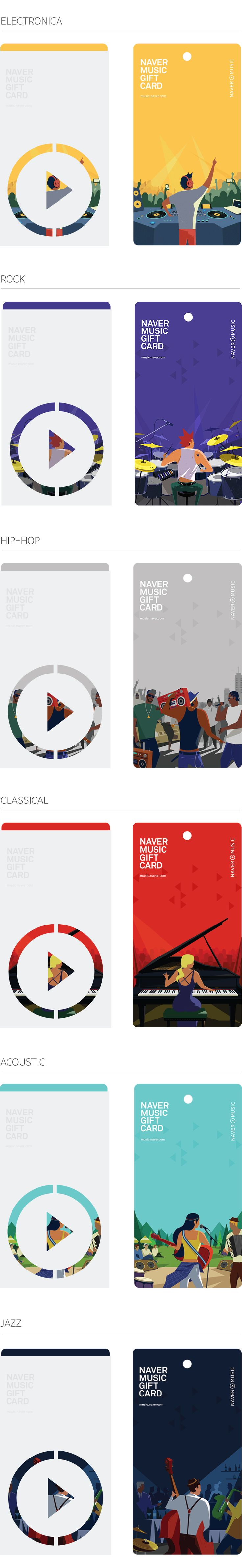 NAVER MUSIC GIFT CARDS on Behance