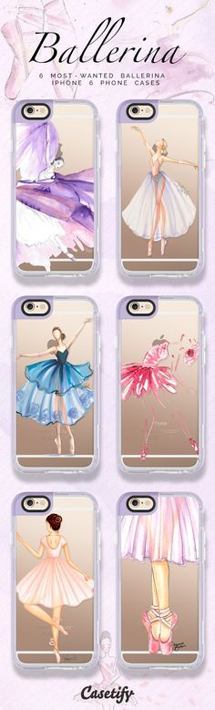 6 Most wanted ballerina iPhone 6 protective phone cases   Click through to see more ballet iPhone phone case >>> https://www.casetify.com/artworks/GxDyoaP2Mw #pastel   @casetify