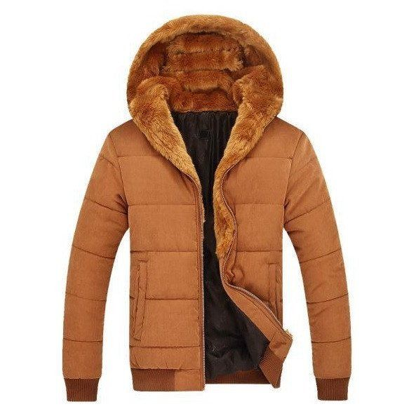 Contemporary Faux Fur Hooded Parka Jacket (2 colors)