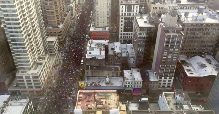 You may have heard that the protest march in New York City was massive, but a time-lapse video reveals just how big it really was.  http://mashable.com/2014/12/13/time-lapse-new-york-protest-march/