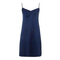 £45.00 Julianne Samantha stretch silk #chemise - exclusive, Navy, #lingerie, #nightwear
