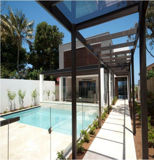 Glass Roof Pergolas Pools Shared And Swimming