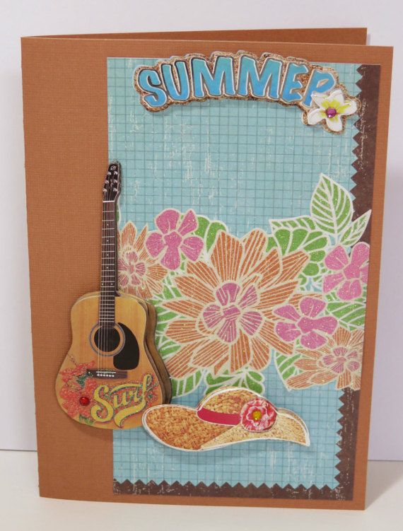 42 best fabulousfussetsy images on pinterest handmade handmade greeting card guitar summer surf by fabulousfuss on etsy m4hsunfo