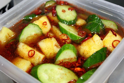 A Box of Kitchen: Pineapple and cucumber in spicy light syrup