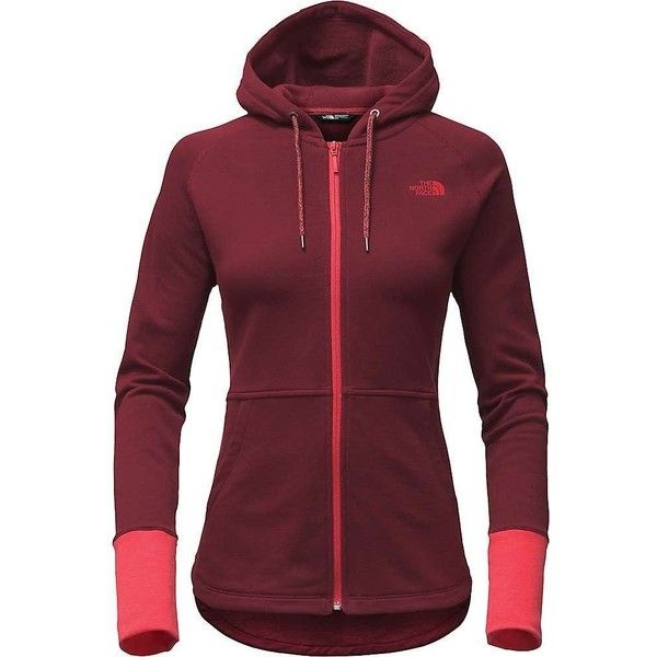 The North Face Women's EZ Hoodie (170 BRL) ❤ liked on Polyvore featuring tops, hoodies, deep garnet red, the north face, the north face hoodie, drawstring hooded pullover, red hoodie and drawstring hoodie