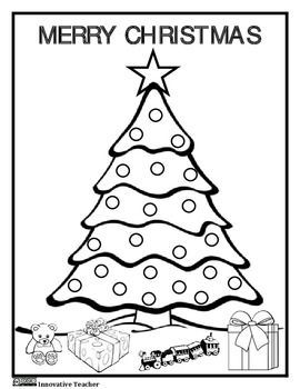 Christmas Coloring Page Free Free Free Tpt By