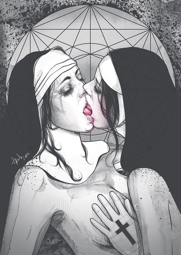 Adult Art. Part 2: NUNS by Anna Sun, via Behance