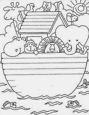Art'sanália : Riscos e ilustrações do tema Arca de Noé.