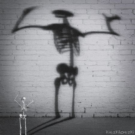 skeleton naked dancing