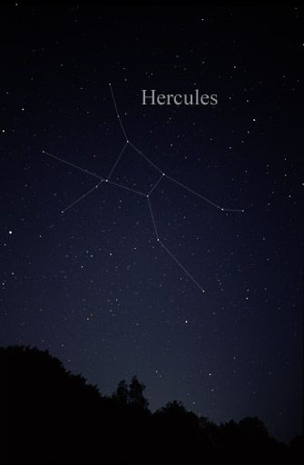 The constellation Hercules adorns the eastern sky on May evenings.