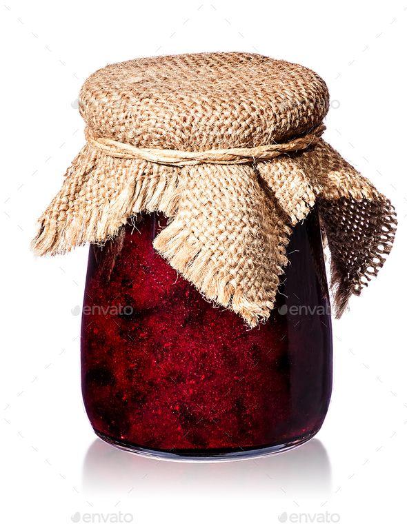 Currant jam in jar with burlap - Stock Photo - Images Download here : https://photodune.net/item/currant-jam-in-jar-with-burlap/18793054?s_rank=41&ref=Al-fatih