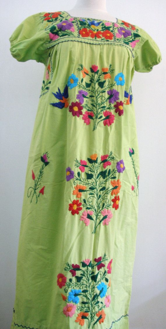 Vintage Bright Chartreuse Green Mexican by PassionFlowerVintage, $48.00