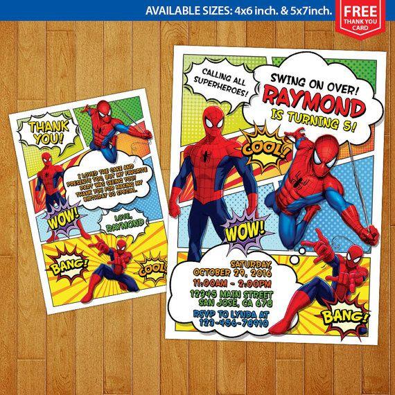 Invitación Spiderman Spiderman cumpleaños por MrGeniusInvites - Visit to grab an amazing super hero shirt now on sal