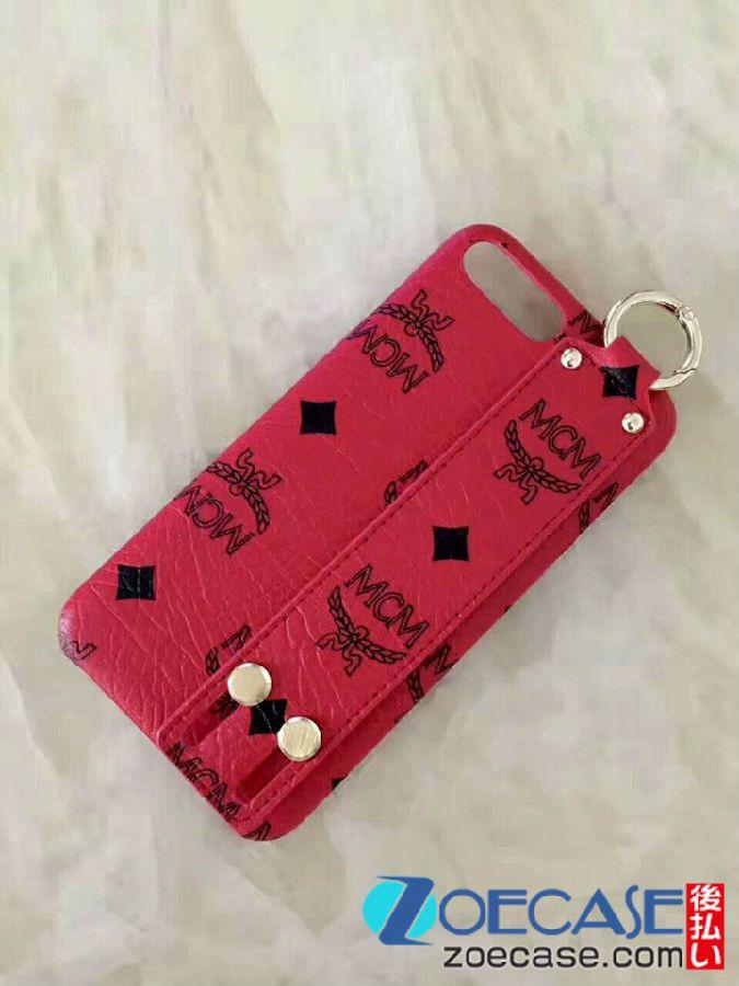 エムシーエム iphone7plus ケース お洒落 MCM アイフォン8ケース ベルト付き iPhone7s カバー ブランド mcm iphone6sケース 韓国芸能人愛用