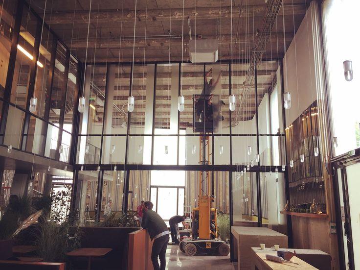 [#VETROX#films dépolis] Restaurant Les Grands Verres @Palais de Tokyo  Application des films dépolis par Vetrox France Tel : 01.77.62.30.14