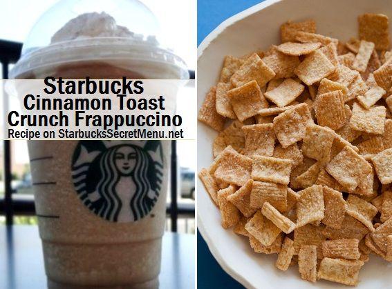 Mmm Cinnamon Toast Crunch Frappuccino via Starbucks Secret Menu! Recipe here: http://starbuckssecretmenu.net/starbucks-secret-menu-cinnamon-toast-crunch-frappuccino/
