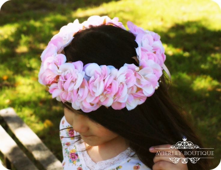 Pink pearl Floral crown via Avierley Boutique. Click on the image to see more!