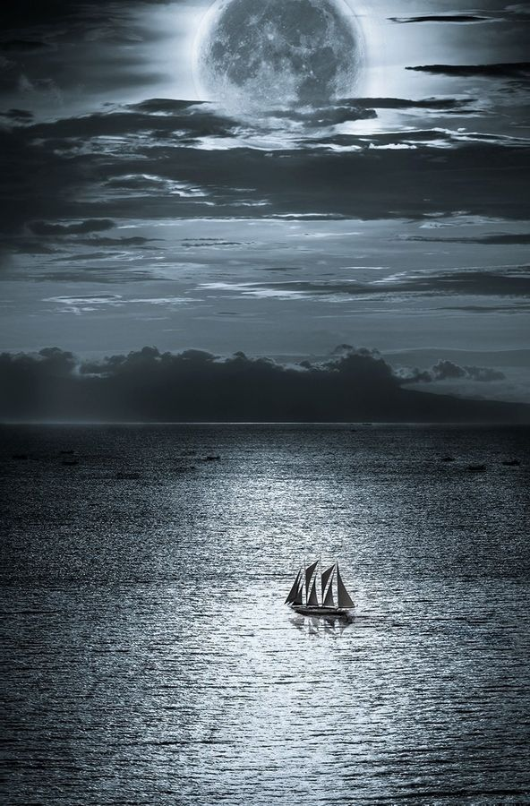 Moonlight's Sonata // It would be lovely to go on a nighttime, moonlit sail with my sweetie.