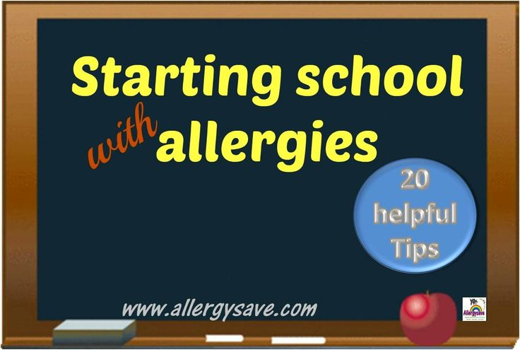 20 Tips for Starting school with allergies. http://www.allergysave.com/starting-school-with-allergies-20-helpful-tips/