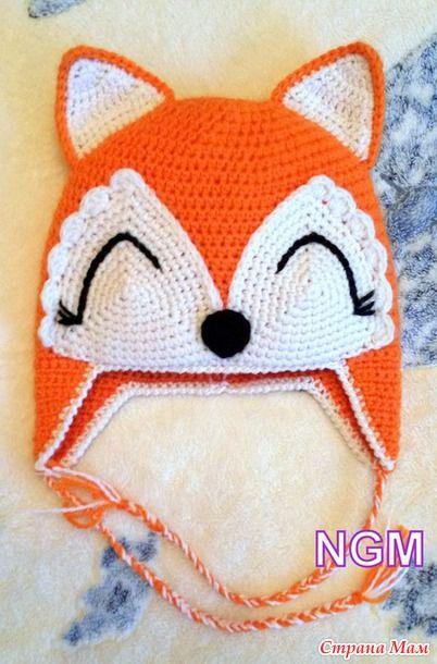 Хитрая лисичка или шапочка с описанием - Вязание для детей - Страна Мам