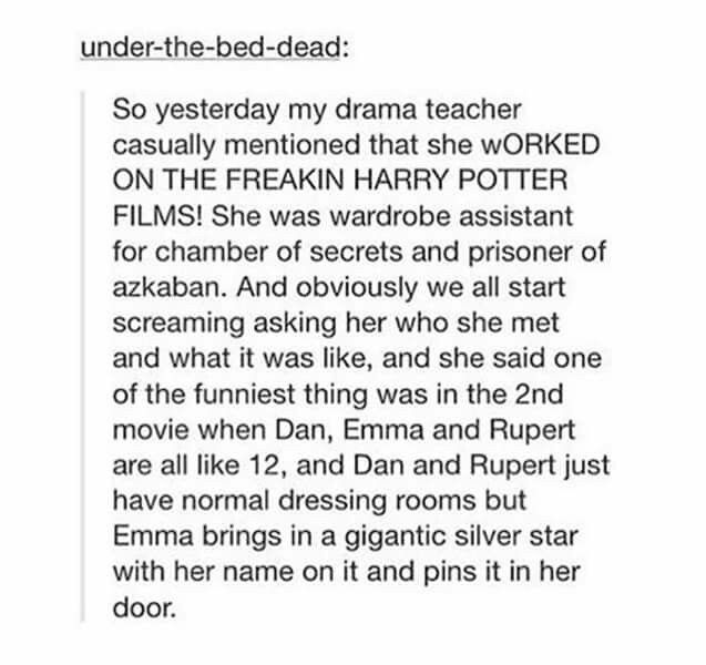 I LOVE THIS! WHICH SCHOOL IS THIS, WHERE IS IT AND IS THAT TEACHER STILL THERE. BEST. DRAMA. TEACHER.EVER!