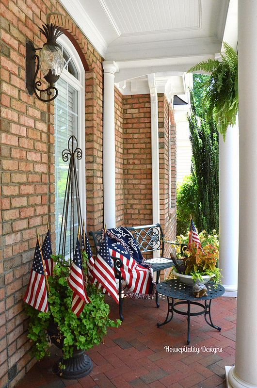 summer porch flag day housepitality designs wow us. Black Bedroom Furniture Sets. Home Design Ideas