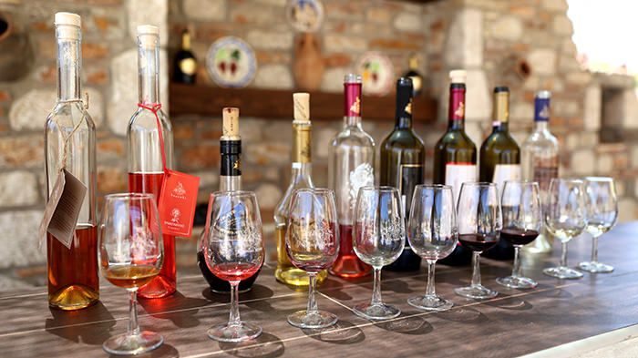 The wines of Rhodes and the local varieties of vine are labelled as POP and PGI (products and Geographical Indication of Origin of Superior Quality wines).  Except for two large companies (Cair-Emery) there are also in Attaviros and prophet Ilias, small wineries that produce local wine.