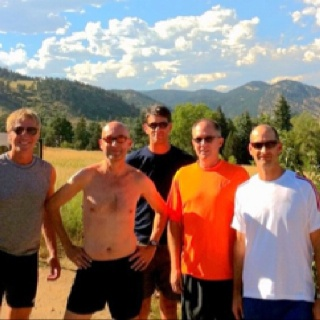 Running up Flatiron Mountains - with my colleagues - two of these guys were All American NCAA distance runners - one still holds World record for 6 mile ...